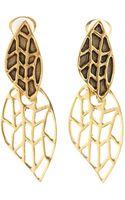 Oscar de la Renta Leaf Earring - Lyst