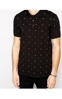 Asos Polo Shirt with Polka Dot Print - Lyst