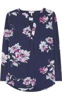 Joie Deon Floral Silk Blouse - Lyst