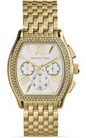 Michael Kors Goldtone Amherst Chronograph Glitz Watch 38mm - Lyst
