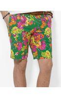 Ralph Lauren Slim Fit Hudson Floral Print Short - Lyst