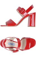 Prada Highheeled Sandals - Lyst