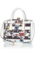 River Island White Striped Floral Print Mini Tote Bag - Lyst
