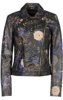 Esprit Printed Leather Outerwear - Lyst