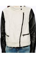 Rag & Bone Biker Jacket with Leather Sleeves - Lyst