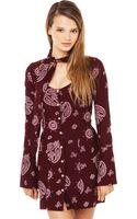 For Love & Lemons Wrangler Mini Dress - Lyst