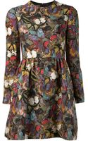 Valentino Long Sleeve Butterfly Dress - Lyst