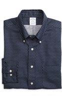 Brooks Brothers Noniron Slim Fit Dot Sport Shirt - Lyst