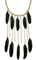 Nasty Gal Tight As A Feather Necklace - Lyst