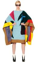 Tsumori Chisato Wool Blend Patchwork Poncho - Lyst