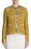 Dolce & Gabbana Floral Chiffon Trim Jacket - Lyst