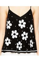 Asos Cami with Daisy Embellishment - Lyst