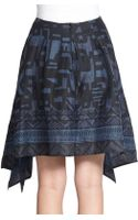 Donna Karan New York Scarf-print Draped Skirt - Lyst