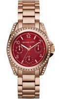 Michael Kors Womens Chronograph Mini Blair Rose Gold-tone Stainless Steel Bracelet Watch 33mm - Lyst
