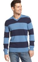 Tommy Hilfiger Signature Rugby Vneck Sweater - Lyst