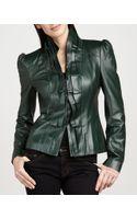 Cusp Lasercut Ruffle Leather Jacket - Lyst