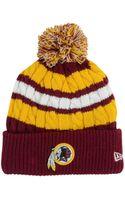 New Era Washington Redskins Cold Weather Knit Hat - Lyst