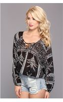 Free People Yo Yo Geo Printed Top - Lyst