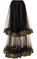 Sachin+babi Layered Skirt with Embroidered Hem - Lyst