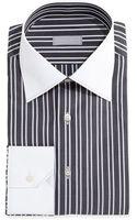 Stefano Ricci Contrast-collar Thick-stripe Dress Shirt - Lyst
