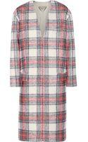 Stella McCartney Plaid Wool and Cashmere-blend Coat - Lyst
