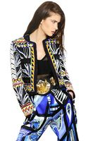 Emilio Pucci Beaded Cotton Grain De Poudre Jacket - Lyst