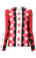 Valentino Intarsia Sweater - Lyst