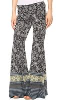 Free People Flare Pull On Pants Black Combo - Lyst