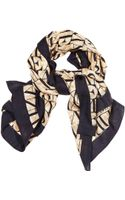 Armani Jeans Scarf 110x110 Wool Logo All Over - Lyst