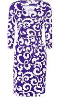 Diane Von Furstenberg New Julian Printed Silkjersey Wrap Dress - Lyst