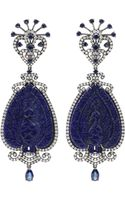 Bochic Carved Lapis Peacock Earrings - Lyst