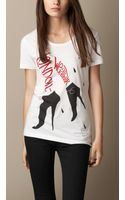 Burberry Weather Graphic Cotton T-shirt - Lyst