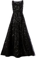 Oscar de la Renta Sequin Embroidered Flared Gown - Lyst