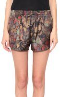 Valentino Camubutterfly Silk Shorts - Lyst