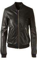BLK DNM Black Leather Teddy Jacket - Lyst
