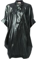 Lanvin Draped Oversize Shirt Dress - Lyst