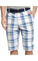 American Rag Nicks Slimfit Plaid Shorts - Lyst