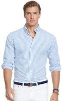Polo Ralph Lauren Striped Poplin Shirt - Lyst