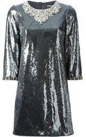 Dolce & Gabbana Sequin Embellished Mini Dress - Lyst