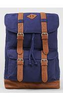 Topman Navy Canvas Explorer Backpack - Lyst
