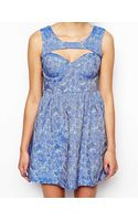 Glamorous Jacquard Skater Dress with Cut Out Detail - Lyst