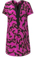 Diane Von Furstenberg Firebirdprint Dress - Lyst