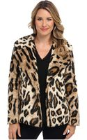 Michael by Michael Kors Faux Fur Pea Coat - Lyst
