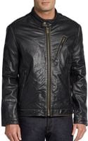 Marc New York By Andrew Marc Radford Leather Moto Jacket - Lyst