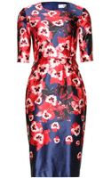 Prabal Gurung Floralprint Cotton and Silkblend Dress - Lyst