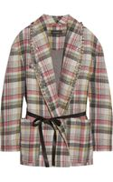 Isabel Marant Milroy Embellished Plaid Linen and Wool-blend Coat - Lyst