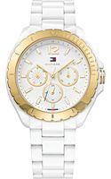 Tommy Hilfiger Womens White Tr90 Bracelet Watch 40mm - Lyst