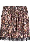 Mango Lace Appliqué Floral Skirt - Lyst