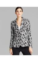 Escada Blazer Mini Check Leopard - Lyst