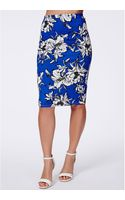 Missguided Cometa Floral Midi Skirt - Lyst